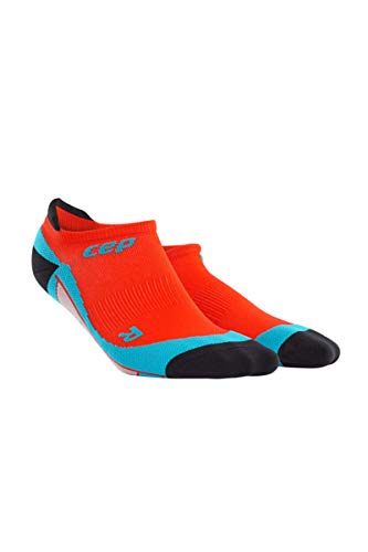(Men's No Show Compression Running Socks - CEP (Sunset/Hawaii Blue))