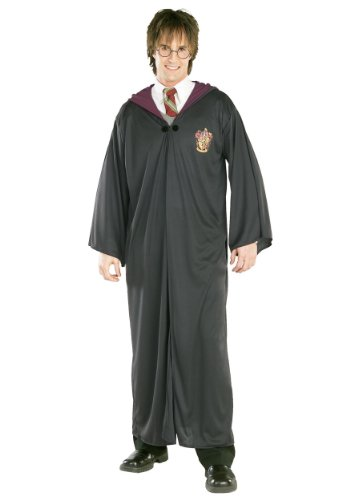 Cheap Harry Potter Robes (Rubies Mens Wizard Harry Potter Gryffindor Robe Deluxe Fancy Costume, Standard (up to 42))