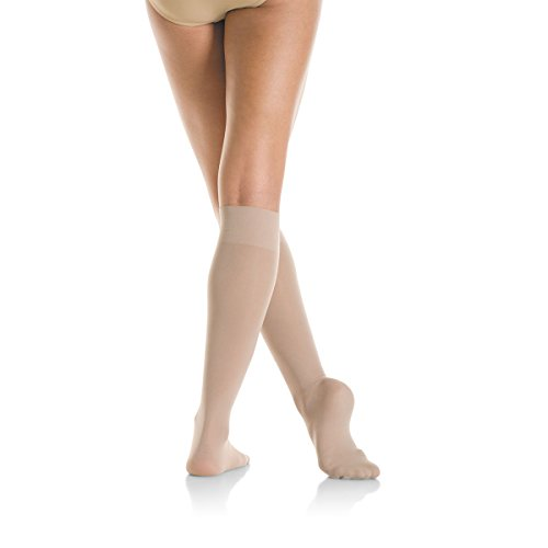 Mondor Light Opaque Knee High Skating Sock (Suntan, Adult)