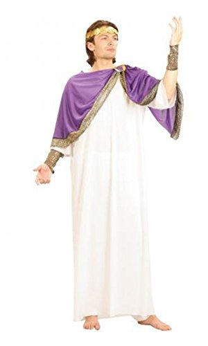 [Adults Fancy Dress Party Costume Male Ancient Greek Caesar God Complete Dress] (Male Greek God Costumes)