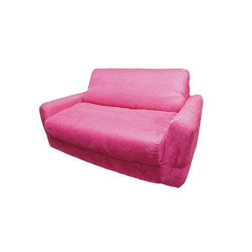 - Fun Furnishings Sofa Sleeper, Fuchsia Micro Suede