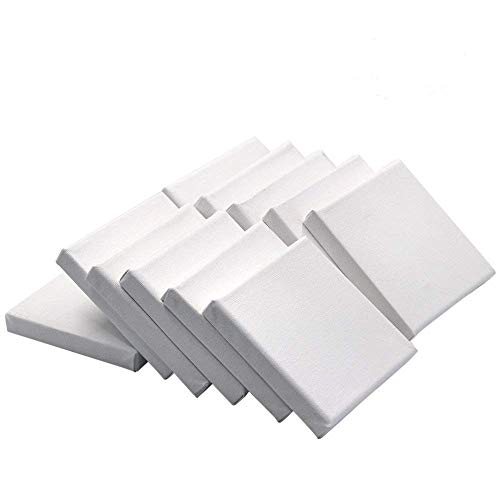 Md Trade 12 Pack Mini Canvas Panels Set for Painting Craft Drawing (4 x 4Inch)