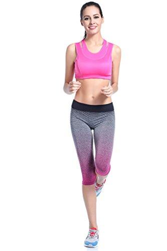 YR.Lover Modes Schlank Yoga Dry Capris Hosen Fest Running Fitness Leggings