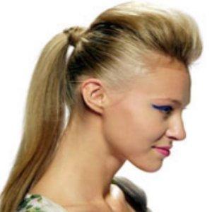 Pferdeschwanz Frisur Haarverlängerung Pony Tail Golden Honigblond