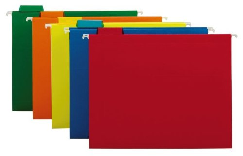 Globe Weis Legal File Cabinet - Globe Weis Colored Hanging Letter-Size Folders (75059)
