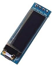 Greatangle Pantalla OLED de 0.91 pulgadas Pantalla DC 3.3V a 5V SSD1306 Controlador IC Módulo de bricolaje Módulo de visualización Pantalla LCD de autoiluminación