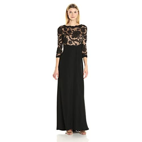 outlet Tadashi Shoji Women\'s 3/4 Sleeve Embroidered Lace and Sequin ...
