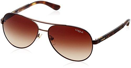 VOGUE Women's Metal Woman 0vo3997s Aviator Sunglasses, Brushed Brown, 58 - Vogue Aviator Sunglasses
