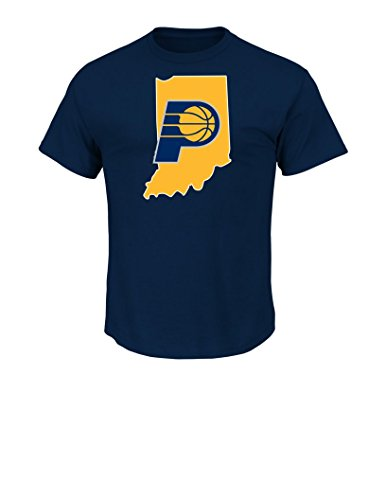 Cast Mens T-shirt - NBA Indiana Pacers Men's Majestic Athletics The Record Holder Player Name T-Shirt, X-Large, Navy