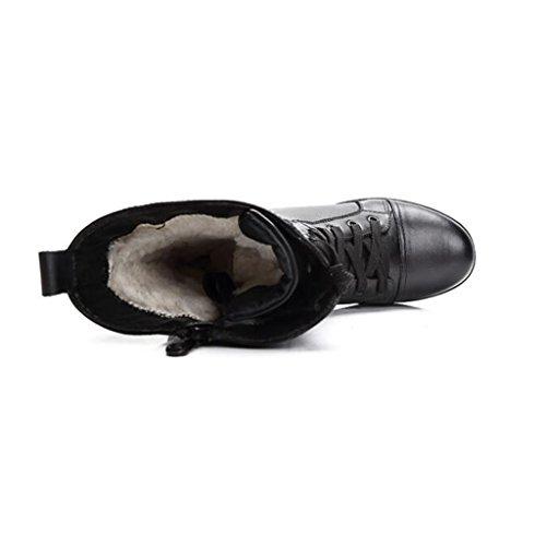 Damen High Top Martin Stiefel Plus Plüsch Warm Cotton Boots Außen Rutschfeste Dämpfung Stiefel 34-39