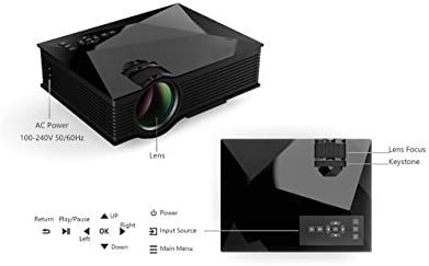 Unic uc46 Mini Wifi 1200 lúmenes Micro LED proyector 1080p ...