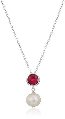Cultured Pearl Ruby Necklace - 9