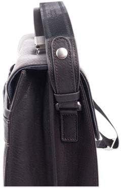 Brown 15.6 5 x 5 x 12 Milestone Briefcase Holds Laptops
