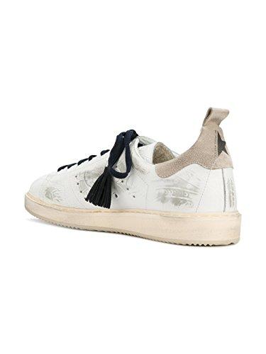 Golden Goose Mænd G32ms631tex Hvide Læder Sneakers hR9RJ