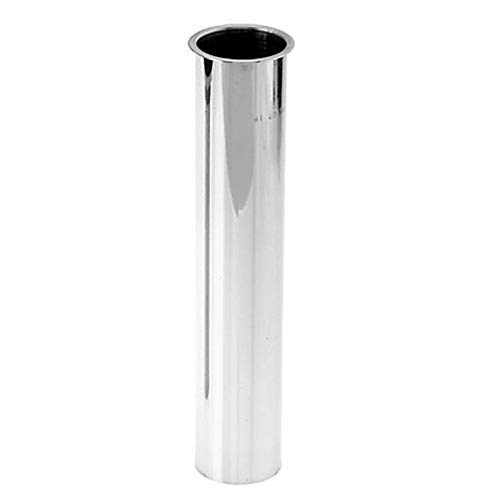 Westbrass D416-26 1-1/2'' x 8'' Flanged Tailpiece, Polished Chrome