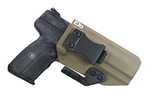 FDO Industries -Formerly Fierce Defender- IWB Kydex Holster FN Five-Seven -The Paladin Series -Made in USA- (Flat Dark Earth)
