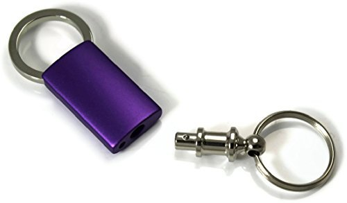 INC Au-Tomotive Gold Plain Blank Purple Valet Key Chain Car Gift Fob