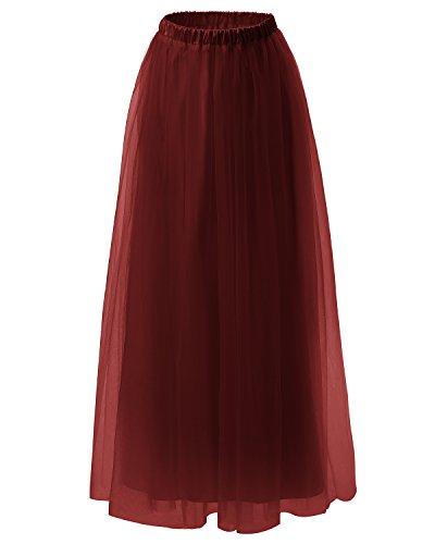 Bordeaux Rockabilly ras du vintage 50 annes sol tutu en jupe longueur Dresstells tulle xB47ZFq0w