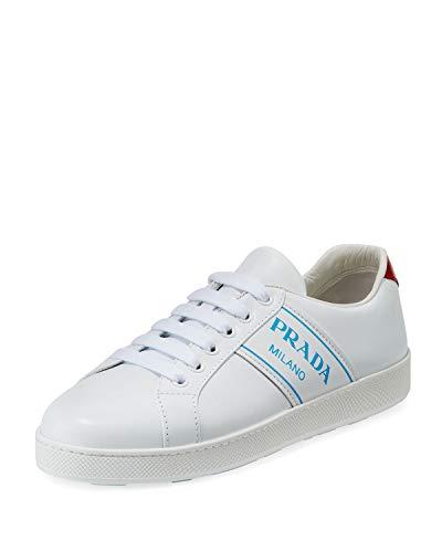 - Prada Blue Logo Platform Low-Top Sneakers 40