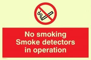 Viking signos ps7-a5l-pno fumar detectores de humo en funcionamiento signo, plástico