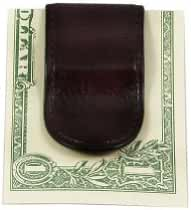 Bosca Old Leather Covered Money Clip - Cognac
