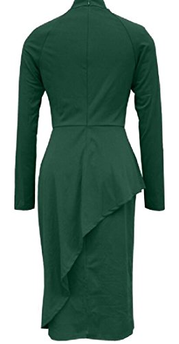 Del Impreziosito Vestito Vestito Un Pezzo Alion Le D'affari Farfallino Donne Verde Bodycon Vestito wA8nI8fq