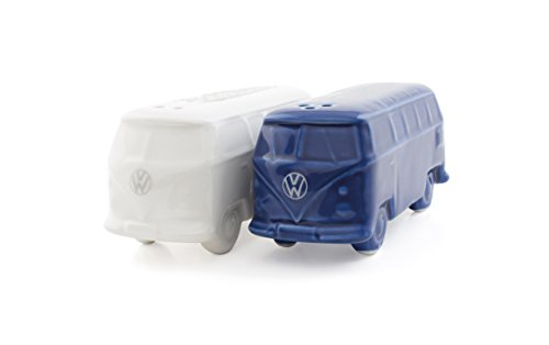 BRISA VW Collection VW T1 Bus 3D Salt & Pepper Shakers - White/Blue