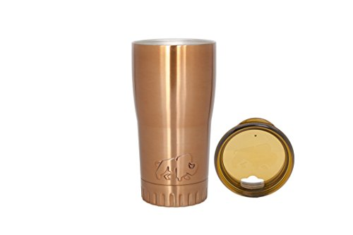 Silver Buffalo NL1008950 Stainless Steel Travel Tumbler, 20-Ounces, Gold