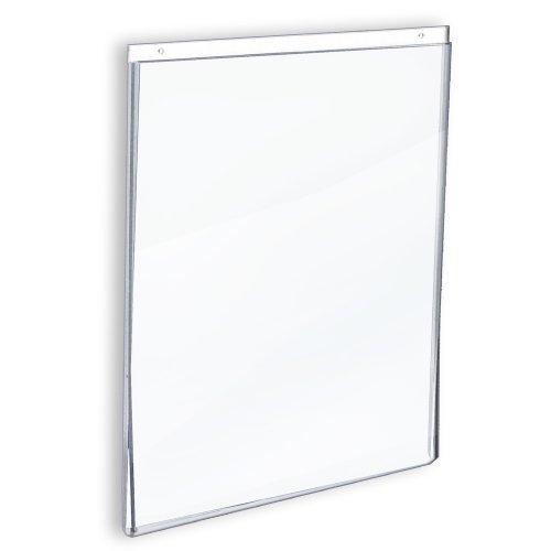 Azar 162708 11-Inch W by 17-Inch H Wall U-Frame Sign Holder, 10-Piece Set