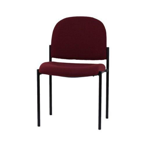 Flash Furniture Embroidered Burgundy Fabric Comfortable Stackable Steel Side Chair by Flash Furniture