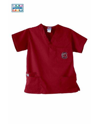 GelScrubs University of South Carolina Cocky Scrub Top Crimson Medium
