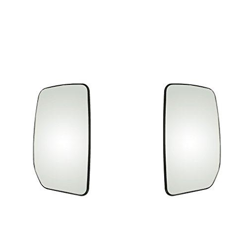 Baoblaze 2 Piezas Coche Auto Izquierda + Derecha Espejo Retrovisor Lateral con Calefacción Espejo De Vidrio Blanco para Ford...