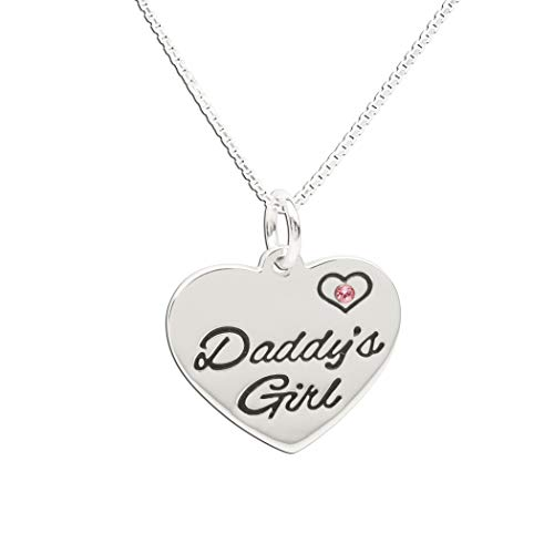 Children's Sterling Silver Daddy's Girl Charm Necklace, 14
