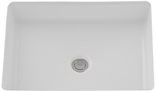 (TOTO LT221#01 Atherton Rectangular Undercounter Lavatory, 17 x 13-Inch, Cotton White)