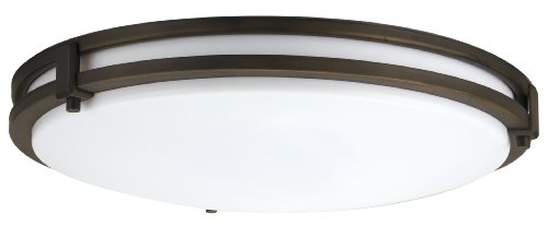 Lithonia Lighting FMSATL 13 14830 BZA M4 Antique Bronze LED Saturn Flushmount by Lithonia Lighting