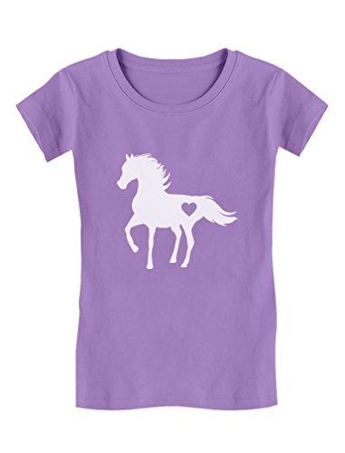 Tstars Gift for Horse Lover Love Horses Toddler/Kids Girls' Fitted T-Shirt 3T (Girls Fitted Tee)