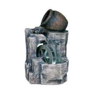 11'' H Illuminated Urn and Water Wheel Fountain (Fountain Wheel Water)