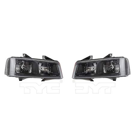 CarLights360: Fits 2009-2016 GMC Savana 4500 Headlight Assembly Driver and Passenger Side NSF Certified w/Bulbs - Replaces GM2502233 GM2503233