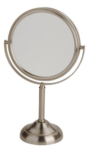 Jerdon Jp910nb 6 Inch Tabletop Two Sided Swivel Vanity Mirror With 10x Magnification 11 Inch Height Nickel Finish