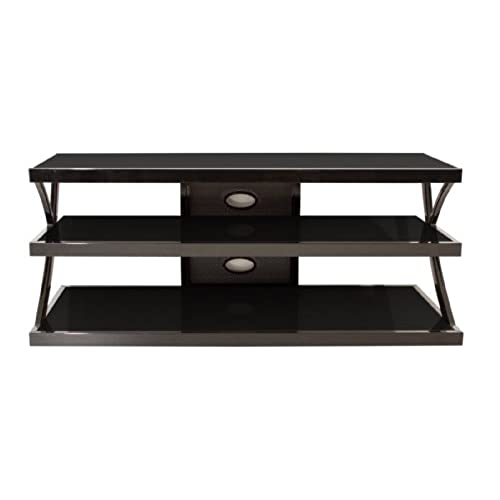TechCraft NTR48 48Inch Wide Flat Panel TV Stand  BlackGlass 48 Inch Wide Tv Stand38