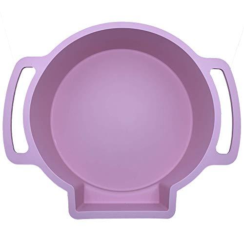 Perfect Cheesecake Water Bath Pan | Silicone | For Standard 9″ Springform Pan | Leakproof Cake Pan Bakeware (Pink)
