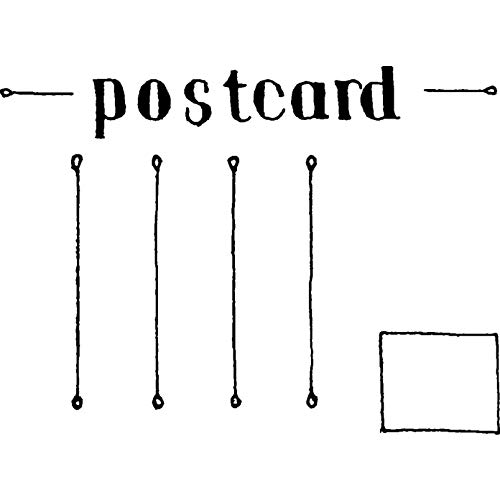 - Azeeda A8 'Blank Postcard' Unmounted Rubber Stamp (RS00018594)