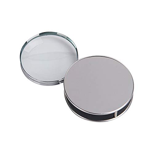 LANGING 1Pc Folding Magnifier Portable Pocket Loupe Metal Reading 10X Magnifying Glass for Inspection Science Office