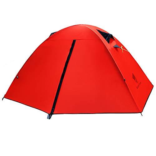 アウターイソギンチャク利得GEERTOP テント 1人用 軽量 防水 コンパクト キャンプ アウトドア 3~4シーズン用 90cm x 210cm
