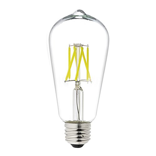 Parrot Uncle 6W LED Filament Light Bulb ST19 Vintage Edison Style Bulbs Cool Daylight White 6000K,60W Incandescent Bulb Replacement,E26 Medium Base Clear Glass Cover for LED Home Lighting