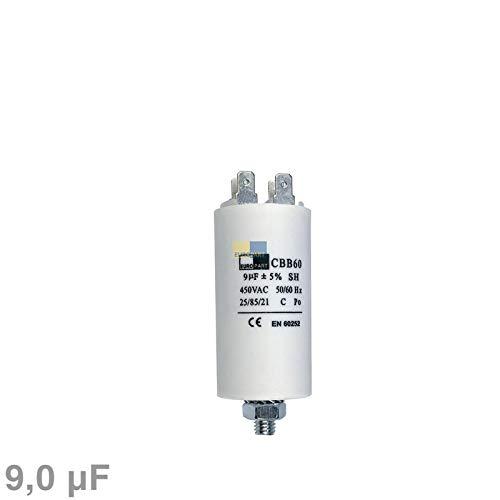 LUTH Premium Profi Parts Kondensator Anlaufkondensator Motorkondensator 9 /µF uF 450V mit AMP-Steckfahnen