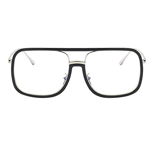 5 Lunettes La Short 0 Myopia 2 Myope Myopie À 3 Stylish Frame Eyeglasses Retro blacksilver Large 1YdwxwqHO