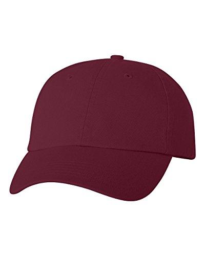 (Joe's USA(tm Cotton Dad Hat Adjustable Plain Cap Low Profile-Maroon)
