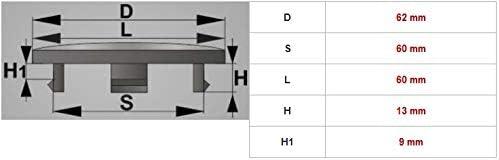 59 mm. Lot de 4 cache-moyeux universels 62 mm