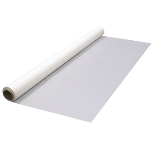 White Plastic Banquet Roll (Party Essentials Heavy Duty Plastic Banquet Table Roll Available in 27 Colors, 40